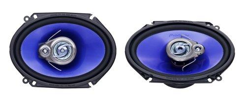 Pioneer TS-H 683 - Altavoces coaxiales para coche, azul