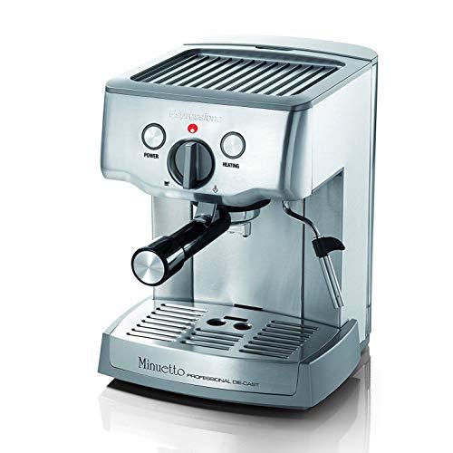 Espressione Espresso/Cappuccino Maker, 9.1 x 7.7 x 11.4 inches, Silver