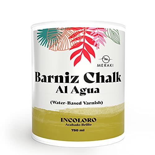 BARNIZ CHALK PAINT MERAKI, al agua BRILLO (750ML)