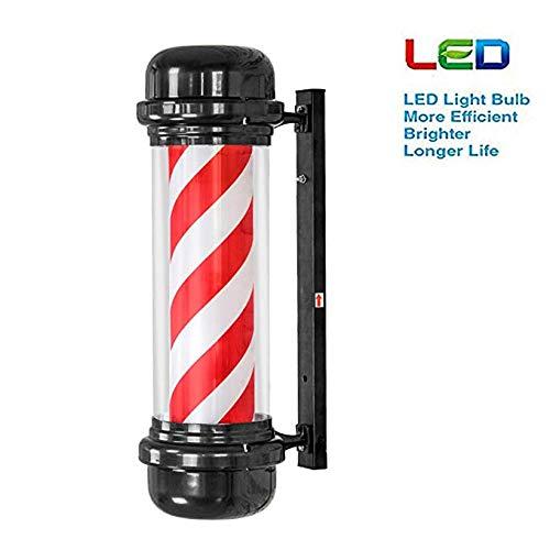 Wttfc LED Barber Friseursalon Logo Beacon Beacon Unterrichtet Weiß Salon Rouge Wandleuchte, 71X30cm