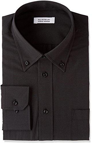 [アトリエサンロクゴ] ワイシャツ 長袖 形態安定 ビジネス カジュアル 制服 ユニフォーム メンズ y9-7-9-1 ブラック-ボタンダウン 日本3L(日本サイズ3L相当)