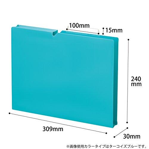 『コクヨ ファイル 個別フォルダー NEOS A4 30mm 3辺とじ 6色セット A4P-NEF30BX6C』の8枚目の画像