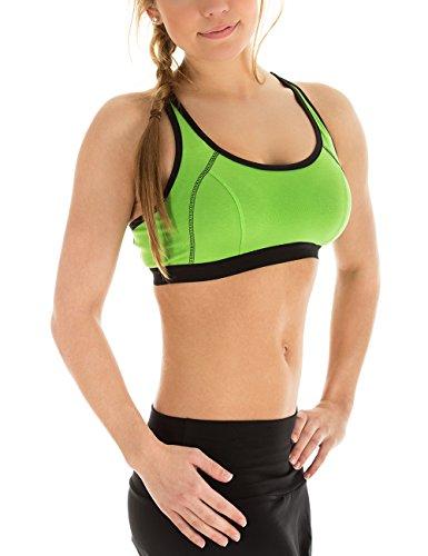 Winshape Damski biustonosz sportowy push-up WVR3 zielone jabłko XS
