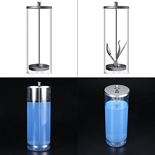 Desinfectiepot, sterilisatiecontainer voor draagbare manicure-instrumenten, nageltang Tatoeage-pincet Pedicure-apparaat Desinfecterende glazen fles(2#)