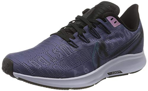 Nike Damen W Air Zoom Pegasus 36 PRM Rise Laufschuhe, Rot (Sanded Purple/Black-Midnight Turq-Ghost-Oil Grey 500), 40.5 EU