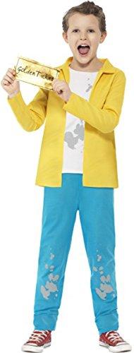 ONLYuniform Roald Dahl Charlie Emmer Kostuum met Top, Broek & Afneembaar Gouden Ticket