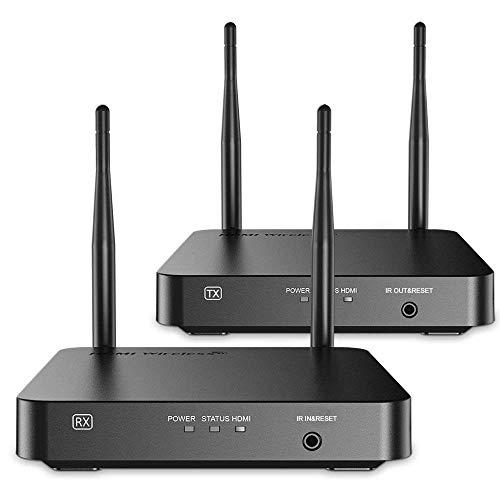 Emebay Extender en ontvanger HDMI 1080P draadloos tot 100 m, ondersteunt IR-afstandsbediening met zender en ontvanger