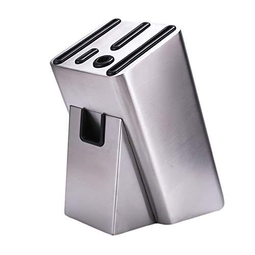 Bloque de cuchillos de acero inoxidable Juego de bloques de cuchillos de cocina profesional con afilador de cuchillos Soporte para cuchillos apto para lavavajillas Organizador de almacenamiento juego