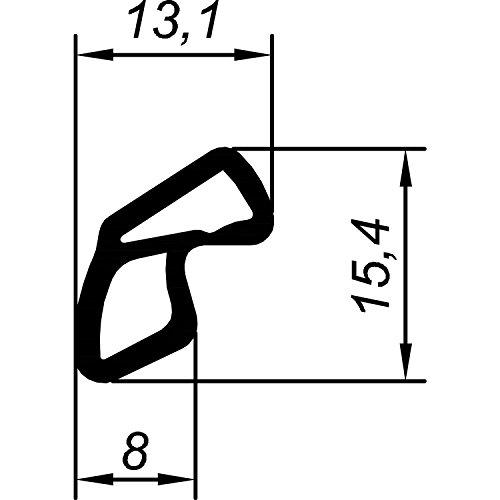 Primo 6063-2002-49 afdichtingsprofiel AC voor Voest stalen kozijn kortberger, kunststof, zwart
