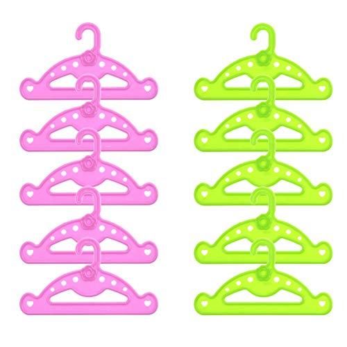 Tiyila 10 Teile / los Kleiderbügel Puppe Kleidung Zubehör Kleiderbügel Fit 18 Zoll Puppe & 43 cm New Born Baby - Kleidung