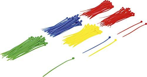 BGS Diy 80875 | Kabelbinder-Sortiment | 200-tlg. | farbig | 2,4 x 100 mm | Set | Nylon
