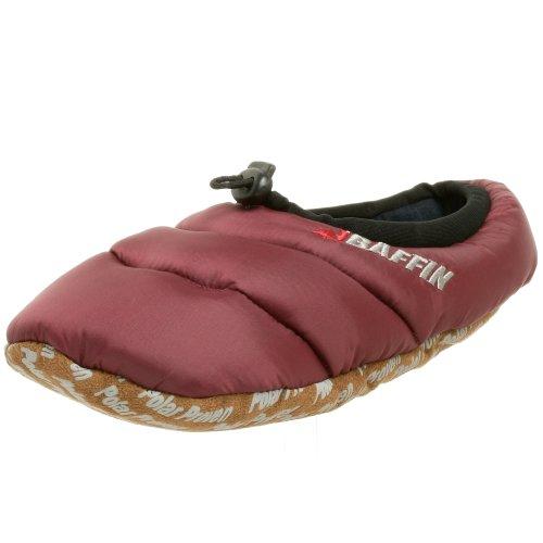 Baffin Unisex Cush Insulated Slipper,Merlot,Medium (Men's 5-6 M US / Women's 7-8 M US)