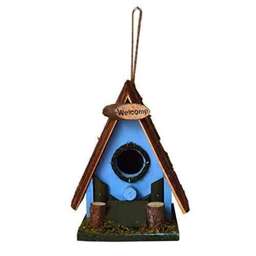 Maison d'oiseau Maison for Petite Cabane À Oiseaux Birdhouse Country Style Cottages Oiseau Rétro Clocher Creative En Plein Air Décoration HangingOutdoor Bois Birdhouse Bird House Avec Carte De Bienven