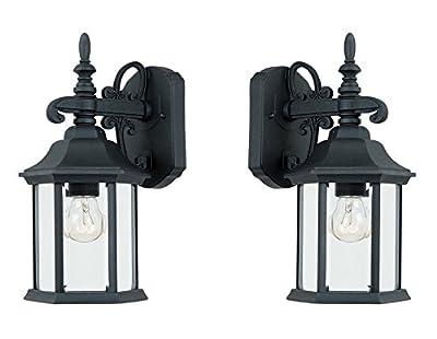 Designers Fountain 2961-BK Devonshire Wall Lanterns, Black