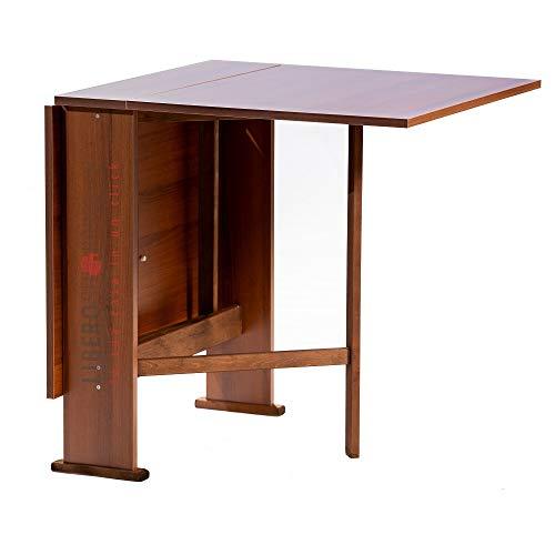 Tavolo consolle richiudibile pieghevole in legno SUSANNA (Noce)