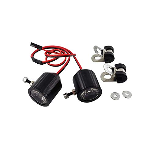 Baslinze 3W Suchscheinwerfer LED Licht Kompatibel mit 1/10 Traxxas TRX4 SCX10 D90 RC Truck Crawler Car