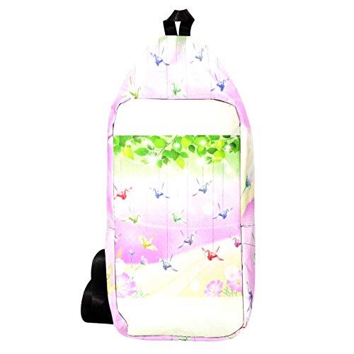 EZIOLY Tausend Paper Cranes Bühnenschulter-Rucksack Sling Bag Crossbody Bag Travel Hiking Daypack für Männer Frauen