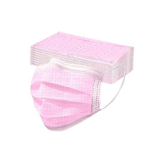 Cada Paquete de 50 Protectores Desechables para niños, máscara de Color sólido, Bufanda Transpirable a Prueba de Polvo, Toalla Facial con Protector Solar, Escuela, Deportes al Aire Libre