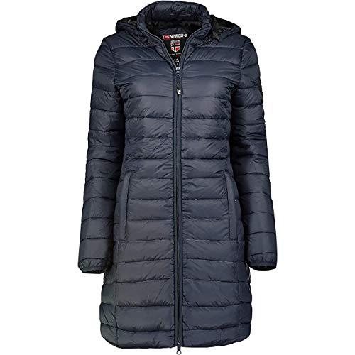 Geographical Norway ARECA LADY - Warme Gewatteerde Jas Voor Dames - Warme Winterjas Voor Dames - Jas Met Lange Mouwen En Capuchon - Lichtgewicht Gewatteerde Jas MARINE BLAUW XL