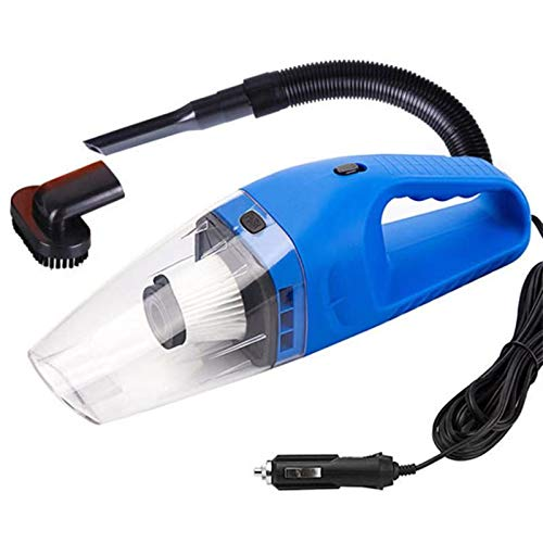 Limpiador de aspiradora de Autos portátiles Potente Potente Auto Aspirum Cleader LED Iluminación LED para Autos Hogar/Mini Limpiador de vacíos (Color : Blue)