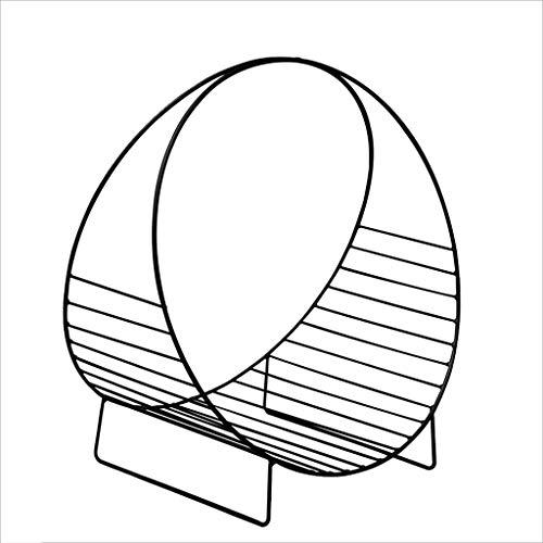 DUOER home sujetalibros Decorativo Minimalista Moderno Piso móvil Escritorio Estantería pequeña Estante de Hierro Forjado Mini Mesa Revistero Durable (Color : Black, tamaño : 48 * 33 * 53cm)