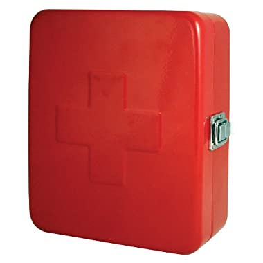 Kikkerland Empty First Aid Box, Small, 6 by 7.5-incehs, Red