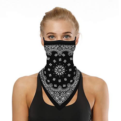 KKmoon Multifunktionstuch Schlauchschal Kopftuch Stirnband Sommer Atmungsakt Dünn Motorrad Mundschutz Halstuch für Damen und Herren BXHE007
