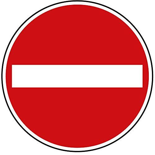 Verkehrszeichen Verbot der Einfahrt Nr. 267 | Ø 420mm, Alu 2mm, RA1 | Original Verkehrsschild nach StVO mit RAL Gütezeichen | Dreifke®