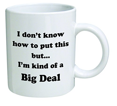 Funny Mug - I don't know how to put this but... I'm kind of a big deal - 11 OZ Coffee Mugs - Inspirational gifts and sarcasm - By QM2U