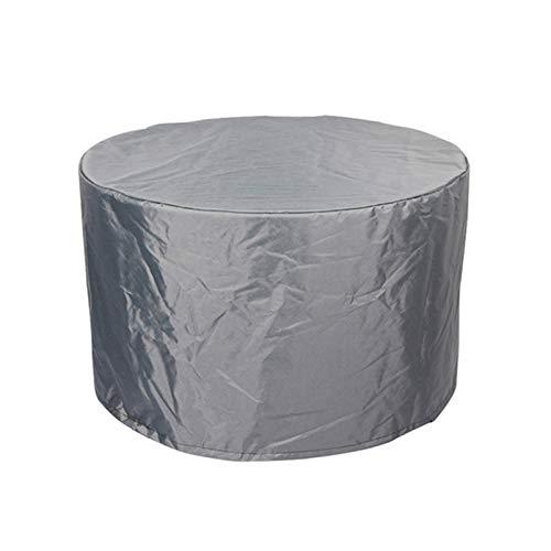 GZHENH Cubierta De Mesa Circular para Patio, Proteccion Solar A Prueba De Viento con Cordón Terraza Mesas Y Sillas Lona Impermeable Conjunto De Muebles De Jardín Al Aire Libre