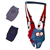 walking harness - Baby Walking Harness,Adjustable Baby Walker Assistant Made of Breathable Knitted Fabric Layers,with Baby Crawling Knee Pads