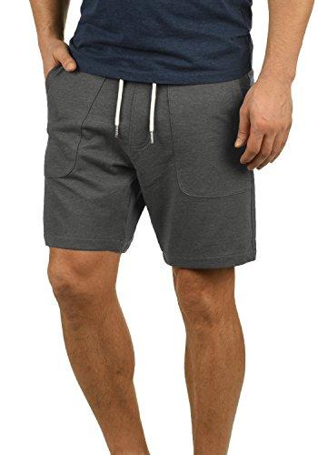 Blend Mulker Herren Sweatshorts Kurze Hose Jogginghose mit Kordel Regular Fit, Größe:L, Farbe:Pewter Mix (70817)