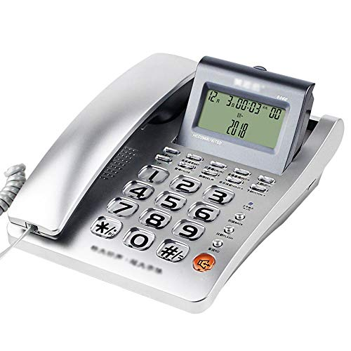 YHZMT Corded Phone, Telephone for Seniors with Big Button/Big Ringtone/Caller ID Feature, Office Landline Fixed Telephones