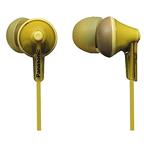 Panasonic RP-HJE125E-Y In-Ohr-Kopfhörer (Drei Paar Pass-Stücke, 10-24.000 Hz, 1,1 m Kabel) gelb