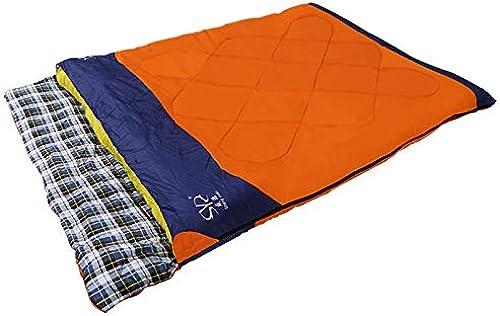 YUHUS Home Sac de Couchage de Camping Amovible pour Le Printemps et l'été en Plein air Sac de Couchage Double en Flanelle pour Adulte (Taille   B)