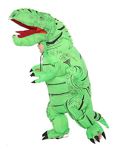FUNNY COSTUMES Dinosaur Inflatable Costume for Kid (Dino Green Small)
