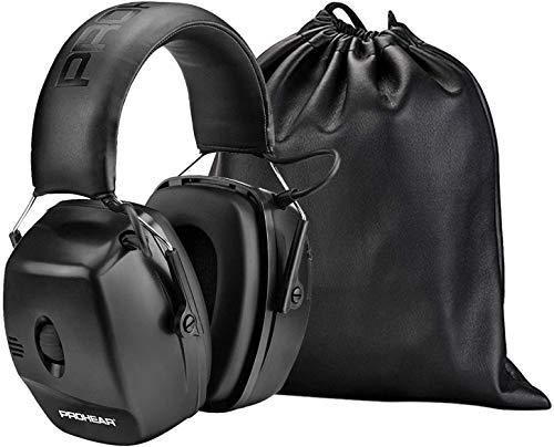 PROHEAR 056 Elektronischer Schiessen Gehörschutz, Aktiver Ohrenschützer Lärmminderung Klangverstärkung für Jagd Schießsport, NRR 30 dB (Schwarz)