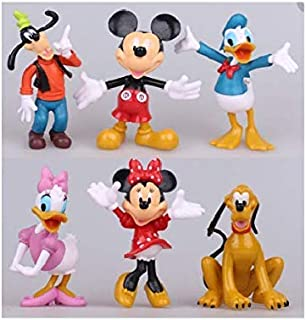 S.Han 6 Pcs Set Big Mickey Mouse and Friends Toys Cake Topper Cake Decoration Tool Baking Tool
