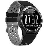 Fenshan223 M6 Smart Watch GPS Reloj Deportivo Ritmo cardíaco presión Arterial compás la función de altitud Inteligente Bluetooth Llamada Reloj (Color : Gray)