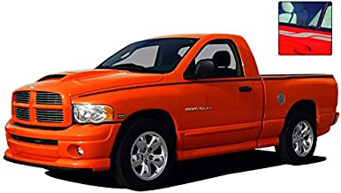 MoProAuto Pro Design Series RAM CROSSROADS : 2009-2016 Dodge Ram Rear Truck Bed Panel Striping Vinyl Graphic Decal Stripes (Fits ALL MODELS) (Color-3M 50 Light Charcoal Metallic)