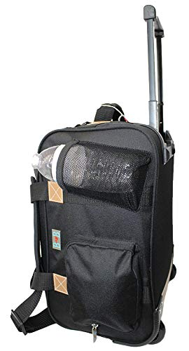 17' Rolling Personal Item Under Seat Duffel For Sun Country, Delta Southwest Airlines (Black)