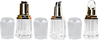 Beaupretty 3 frascos transparentes sem ar para cosméticos, frasco com tamanho de viagem, frascos recarregáveis para shampo...