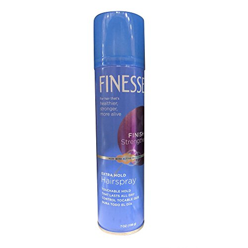 Finesse Finish + Strengthen, Extra Hold Hairspray 7 oz (Pack of 6)