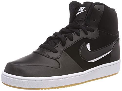 Nike Ebernon Mid Prem, Zapatillas Altas para Hombre, Negro (Black/Black-White-Gum Light Brown 002), 45.5 EU