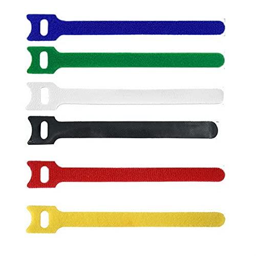 Lixiaonmkop 50 teile/satz Nylon Haken und Schleife Gurt Kabel Krawatten Wiederverwendbare Befestigungsdraht Organizer Zip Krawatten Klumpen Nylon Strap Kabel Kabelbinder (Color : Black)