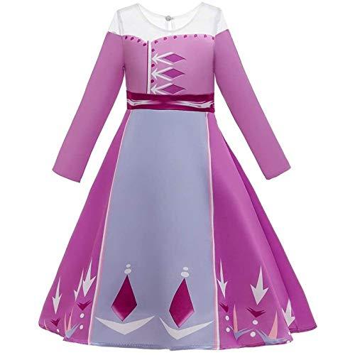 SONG Vestido de Princesa para niñas, Disfraz de Fiesta, Disfraz de Cosplay Delgado, Disfraz de Cuento de Hadas,140