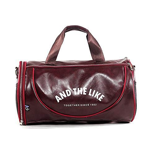 Wewo Borsone da Viaggio Uomo Borsa Palestra Tracolla Pelle Borse Sport Grande capacità Impermeabile Donna Weekend Bag Pieghevole Resistente