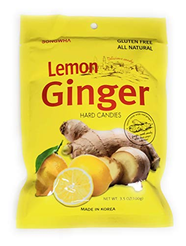 Songwha Lemon Ginger Hard Candies, 3.5 Ounce (Pack of 3) by
