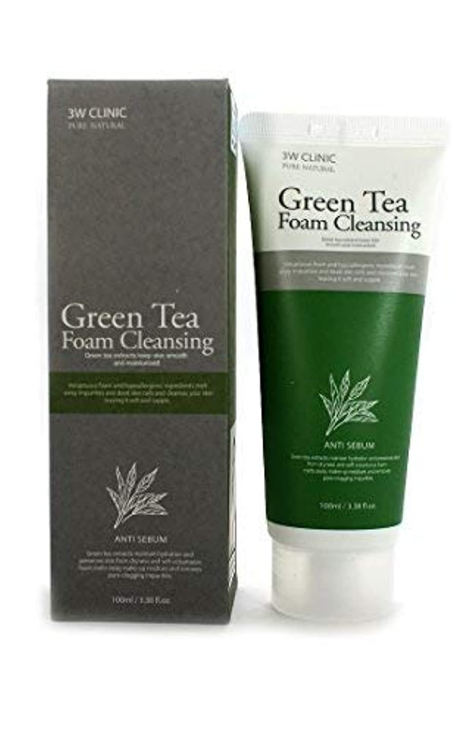 彼女支援出くわすGreen Tea Foam Cleansing クリニック純粋な天然100Ml(3.38Fl。オズ) [並行輸入品]