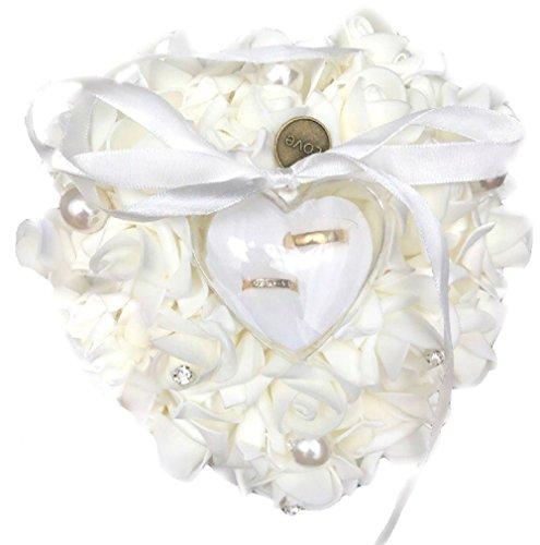 Anillo Joyero Cojín de anillo para alianzas anillos boda novia